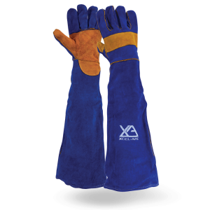 FULL ARM LONG WELDING GAUNTLETS 680mm 1